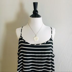 GAP Black & White Stripped Dress Size XL